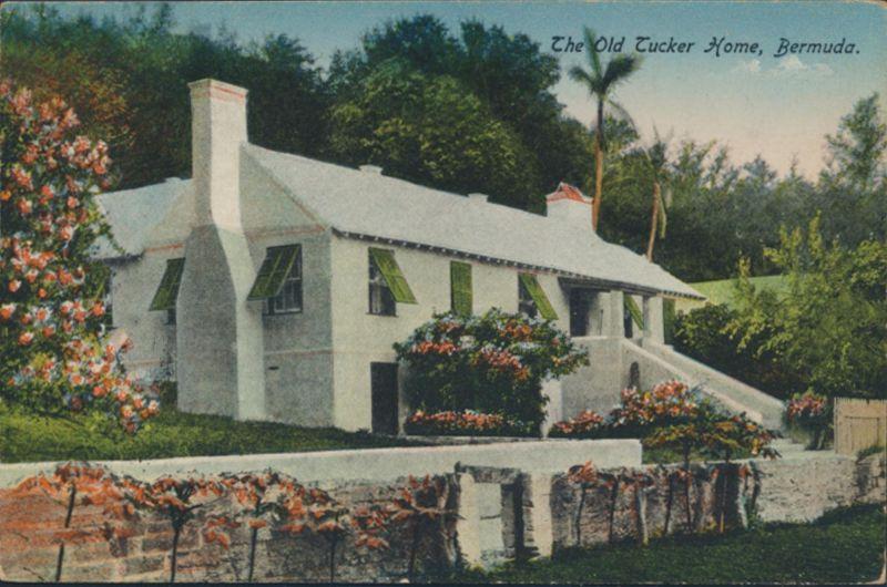 Bermuda Ansichtskarte 35+36 Hamilton nach New York City The Old Tucker Home 1920