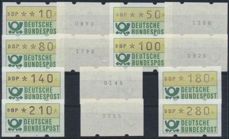 Bund ATM - Nr. 1.1 hu VS 1 m. Zählnummer**  Emblem Bundespost