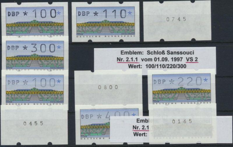 Bund ATM - Nr. 2.1.1 VS 2/3 mit Zählnummer**  Postemblem