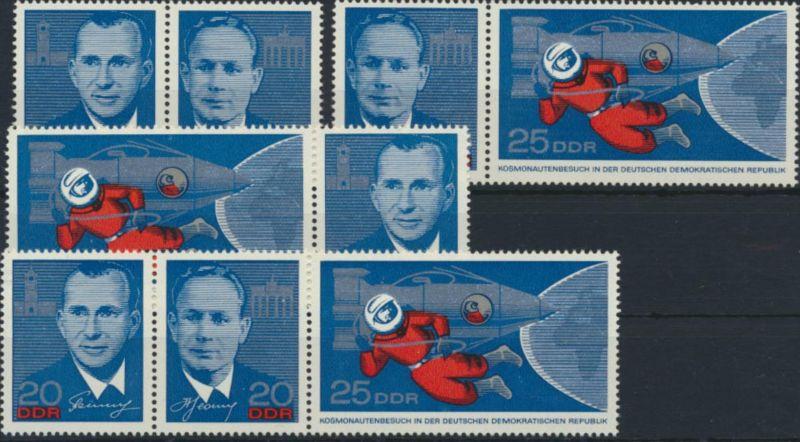 DDR Zusammendrucke 1138-1139 W ZD 156- W ZD 161** Sportler 1965