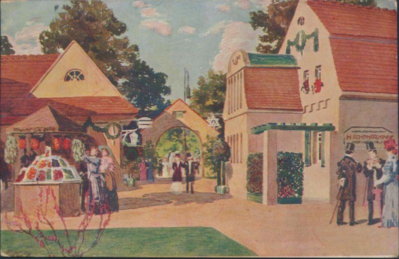 Top Künstler Ansichtskarte Fotografie Ausstellung Dresden 1909 mit seltenem SST