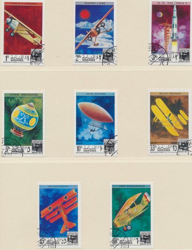 Ajman/Manama 505-512 Briefmarkensusstellung LUPOSTA 1971 gestempelt