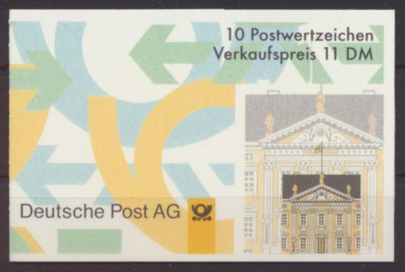 Bund Markenheftchen 35 I oZ Plattenfehler V. Luxus postfrisch MNH Kat.Wert 50,00