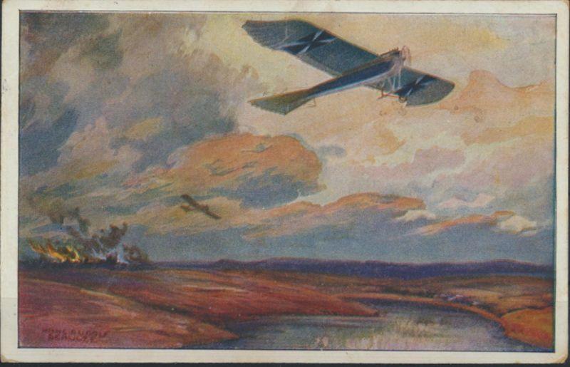 Reich Ansichtskarte 85 II a Deutscher Luftflotten Verein Flugzeuge Wadern nach