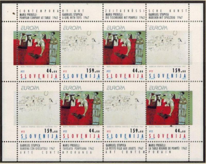 Slowenien 48-49 Europa-CEPT Zeitgenössische Kunst Kleinbogen postfrisch 25,-