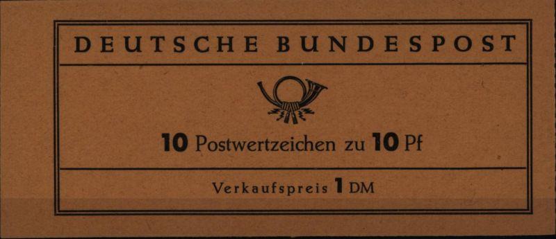 Bundesrepublik Markenheftchen 6e Heuss 1960 tadellos postfrisch MNH **
