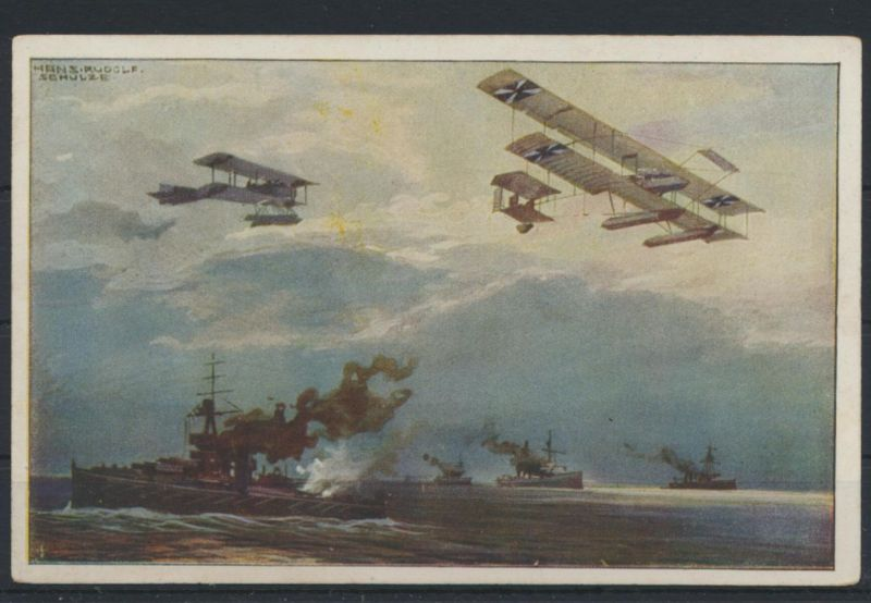 Ansichtskarte I. WK Flugpost Flugzeug Doppeldecker Deutscher Luftflotten-Verein