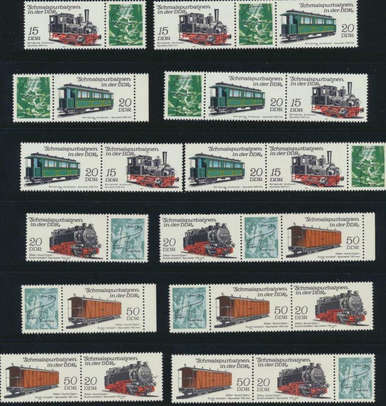 DDR Zusammendruck 2792-2795 Schmalspurbahn 1983 postfrisch