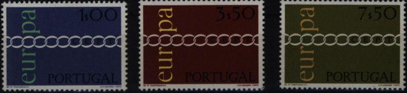 Portugal 1127-1129 Europa CEPT 1971 komplett postfrisch ** MNH