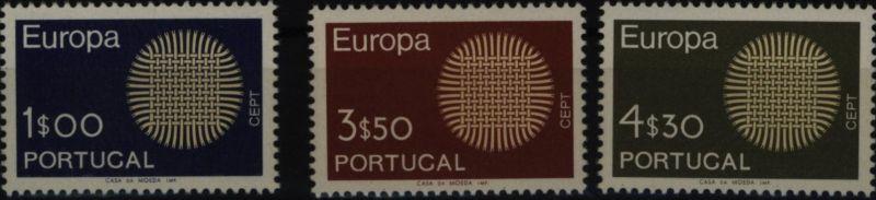 Portugal 1092-1094 Europa CEPT 1970 komplett postfrisch ** MNH