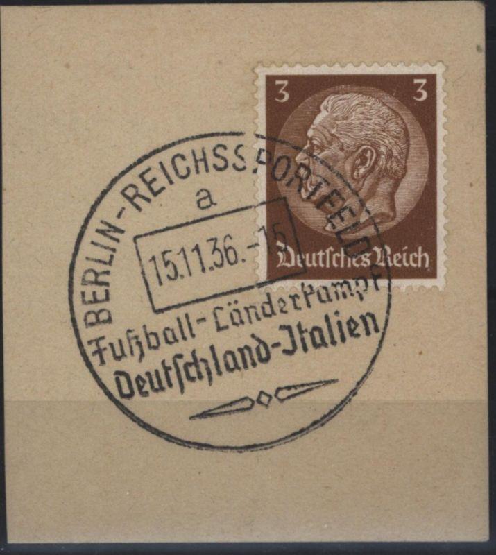 Fußball Deutsches Reich Briefstck SST Berlin Reichssportfeld Deutschland Italien