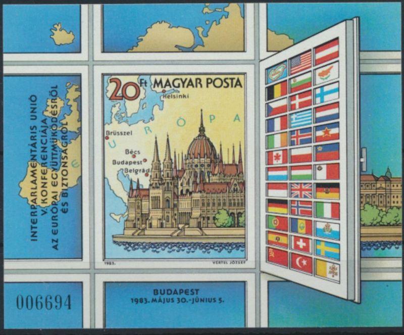 Ungarn Block 163 B postfrisch - KSZE 1983