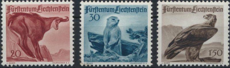 Postfrisch 1945 Wappen Liechtenstein 243 kompl.ausg.