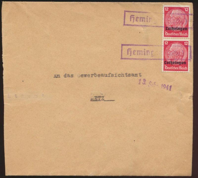 Deutsche Besetzunug II Weltkrieg Aufdruck Lothringen R1 Heming Frankreich
