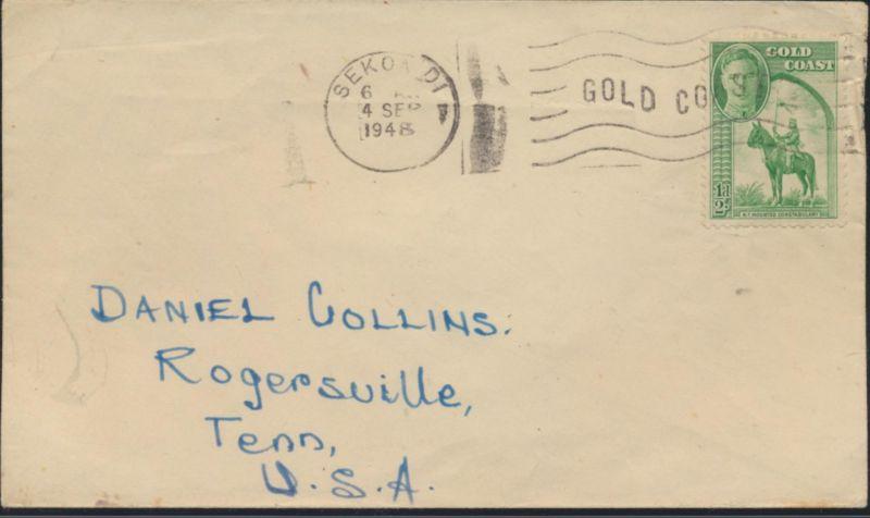 Afrika Brief Ghana Goldküste EF 120 Sekondi nach Rogersville Tennessee USA