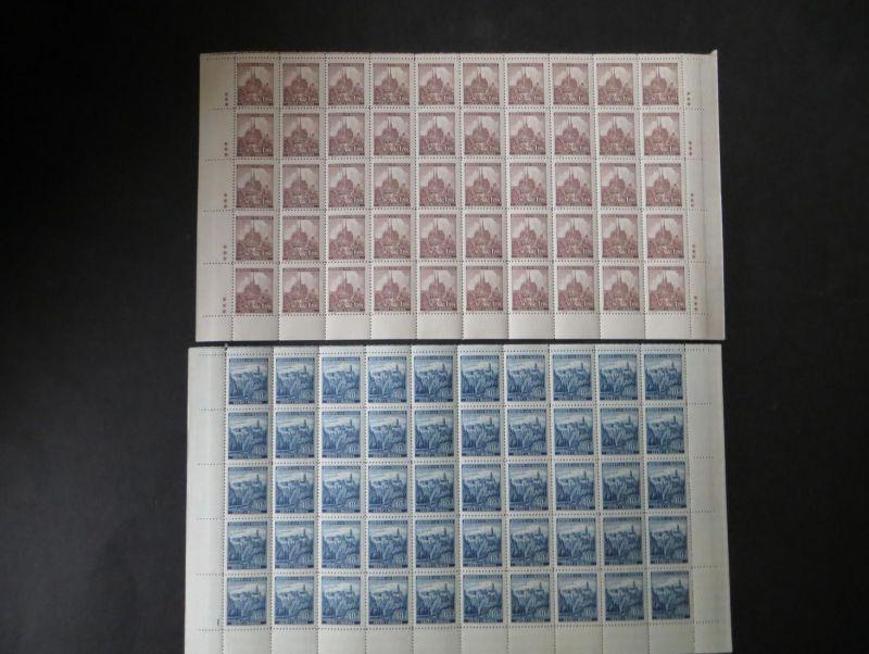Sammlung Besetzung Böhmen & Mähren 12 Bogenteile 1-3 Sternchen oder PL-Nr. Luxus
