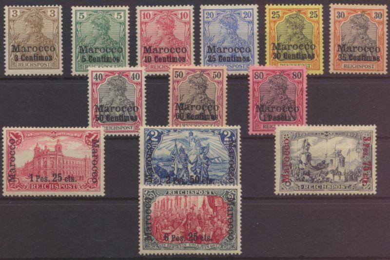 Kolonien Auslandspostamt DAP Marokko 7-19 Luxus ungebaucht Kat.-Wert 400,00