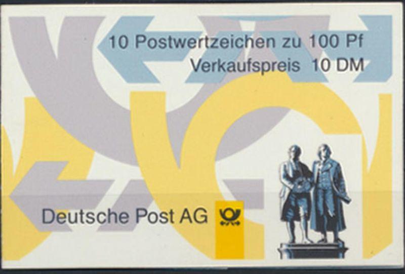 Bund Markenheftchen MH 36 II oZ Sehenswürdigkeiten 1998 ** postfrisch