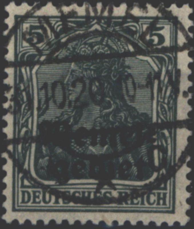 Memel 1 Germania 5 Pfg mit Aufdruck