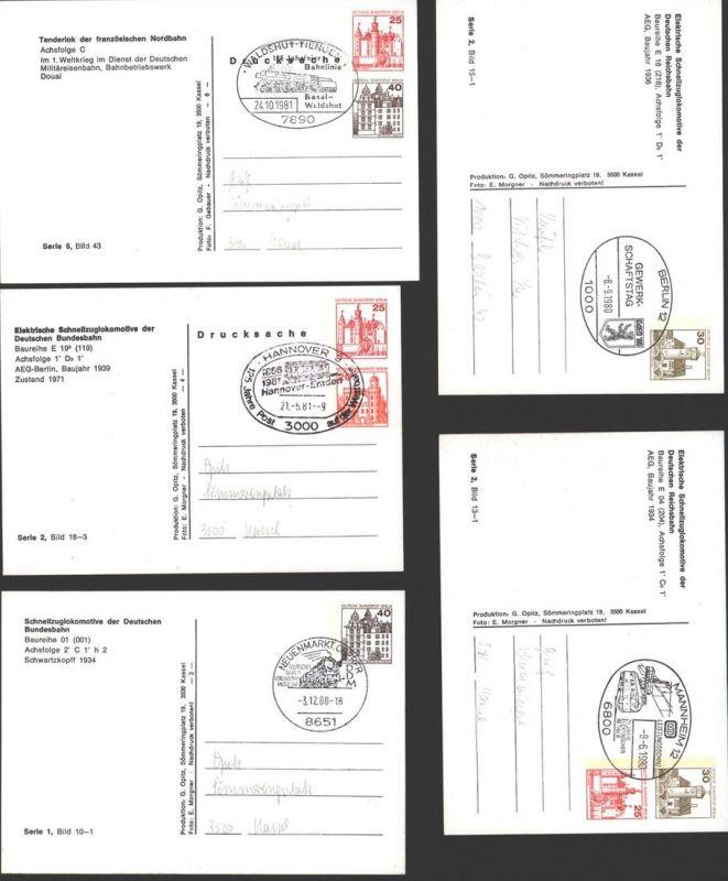 Sammlung Berlin Privatganzsachen Burgen & Schlösser Eisenbahn 1-2 Wertstempel