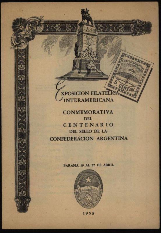 Argentinien 669-676 auf Sonderblatt Interamericana mit Ersttagsstempel 1958