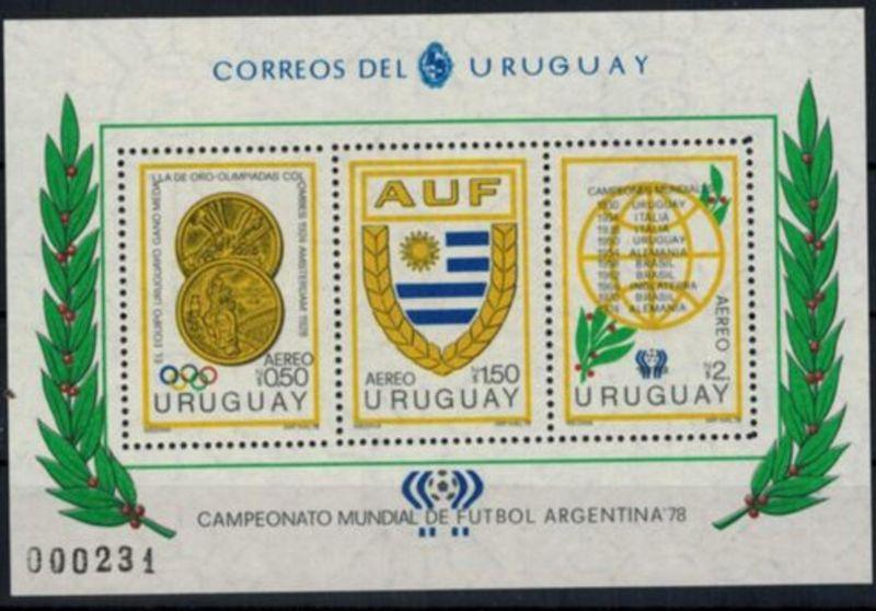 Uruguay Blockausgabe Fussball-WM Argentinien 1978 postfrisch