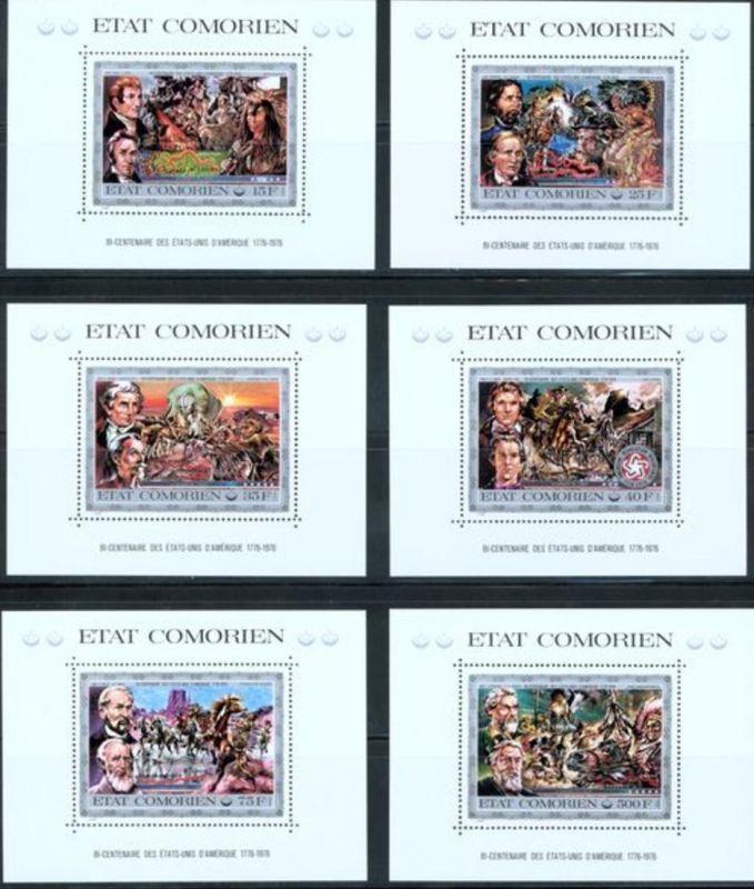 Komoren  200 Jahre USA Blocksatz tadellos postfrisch 1976