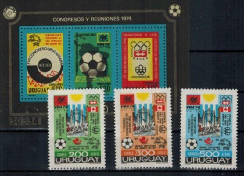 Uruguay Ereignisse u. Kongresse, Satz- und Blockausgabe postfrisch