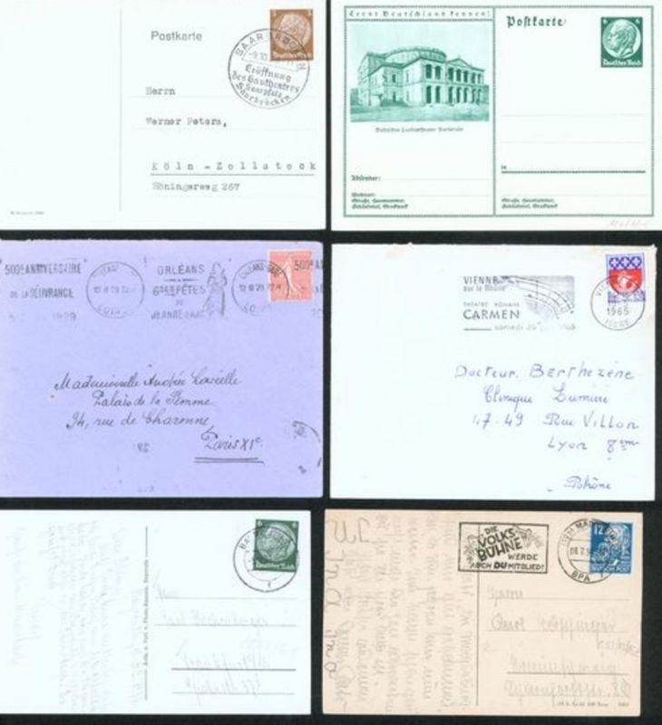 Sammlung Briefe Theater Bühne Oper Artisten 44 meist alt viel Deutsches Reich