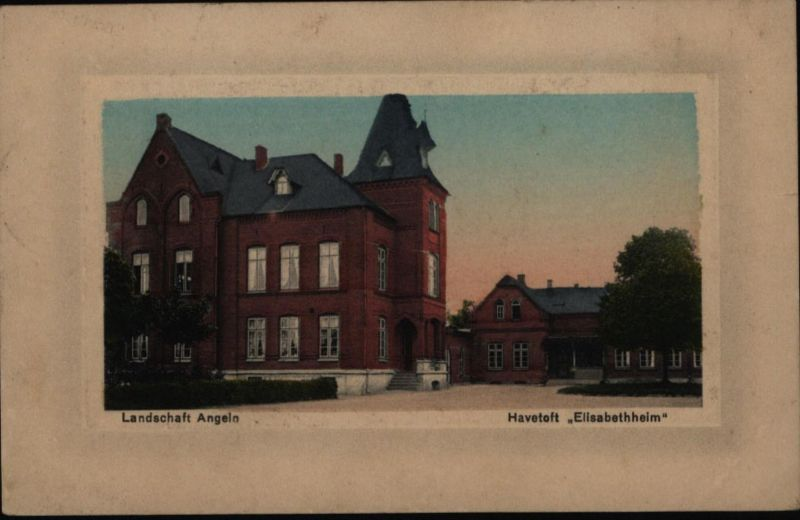 Ansichtskarte Elisabethheim Havetoft Feldpost v. Ausacker Westerholz ü Husbay
