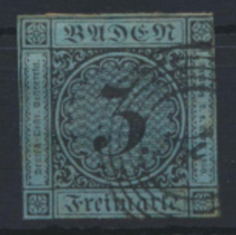 Altdeutschland Baden 8 Nummernstempel 4 Aglasterhausen Kat.-Wert 40,00 + Stempel
