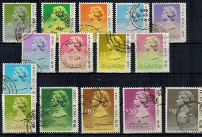 Briefmarken Hongkong 1987 Freimarken Königin Elizabeth II. ohne Jahreszahl
