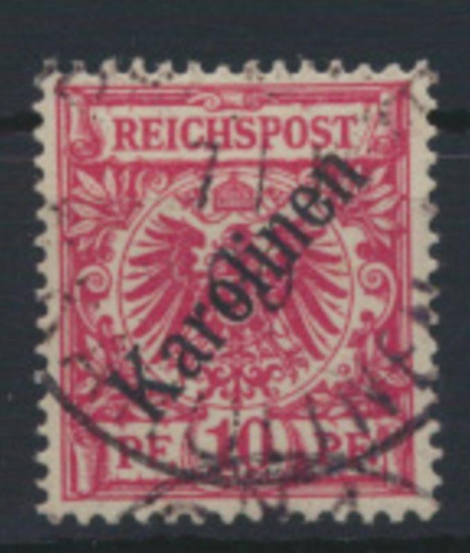 Deutsche Kolonien Karolinen 3 I sauber gestempelt gepr. Bothe Kat.-Wert 160,00