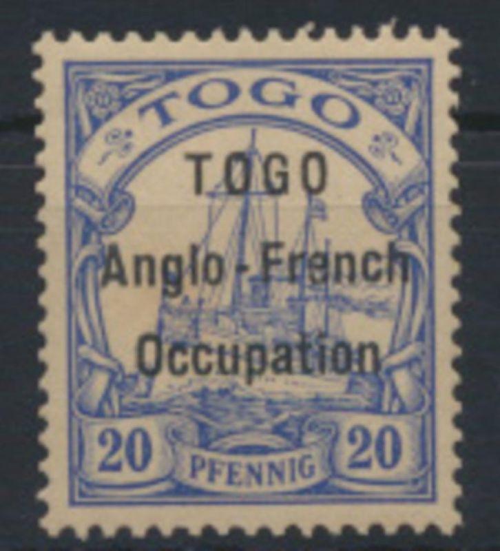 Deutsche Kolonien Togo Britische Besetzung 19 Kaiseryacht Neugummi (2.500,00)