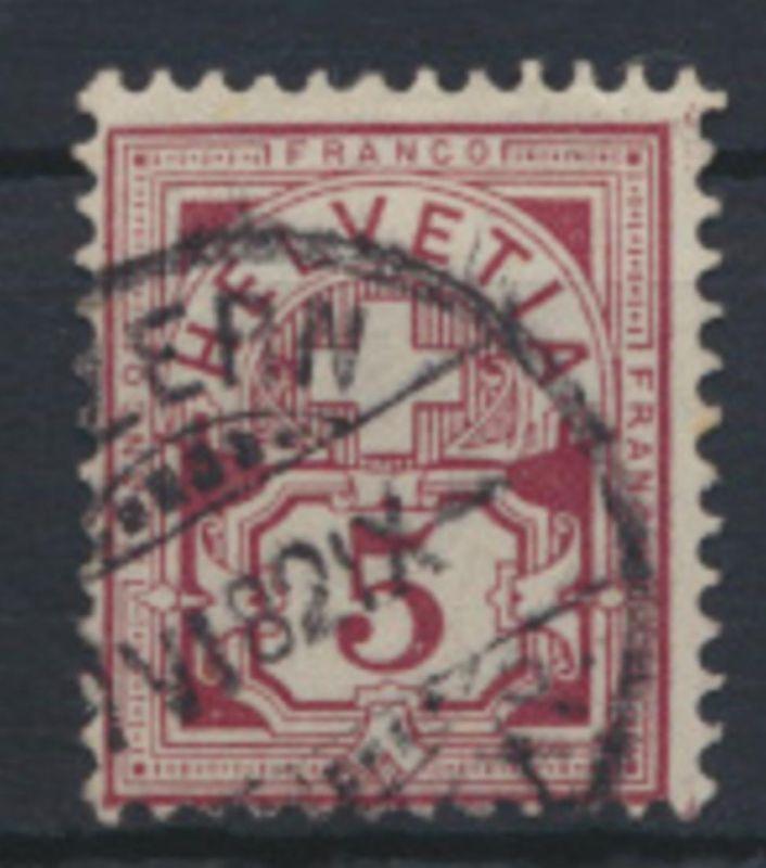 Schweiz 46 Kreuz über Wertschild Kat.-Wert 120,00