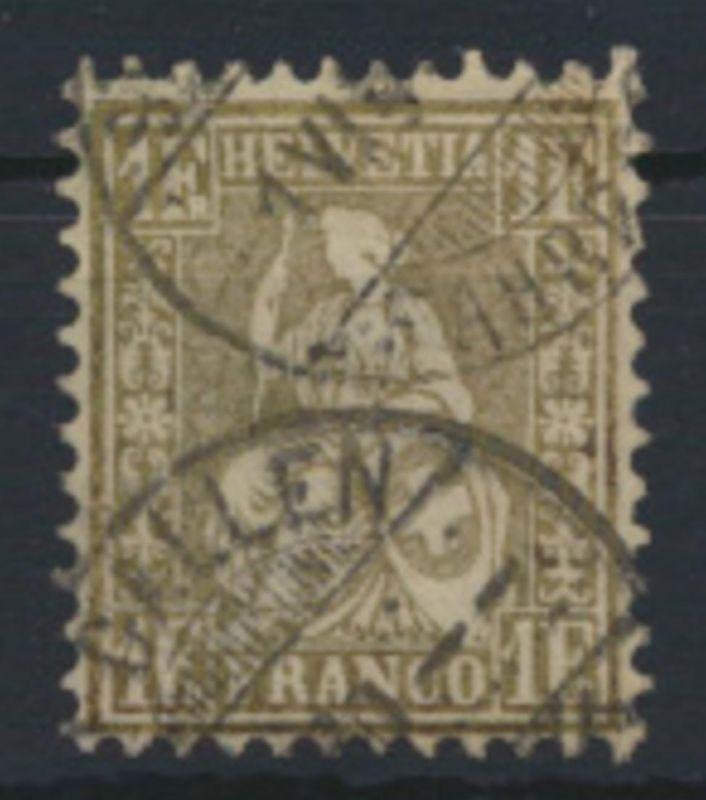 Schweiz 28 c Sitzende Helvetia Kat.-Wert 110,00
