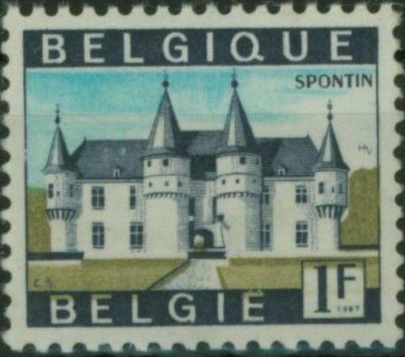Belgien 1480y Sehenswürdigkeiten 1 Fr. Papier ph. 1967 postfrisch