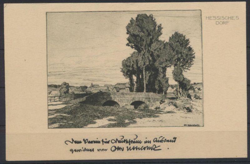 Ansichtskarte Künstler signiert Otto Ubbelohde Nr. 197 Hessisches Dorf