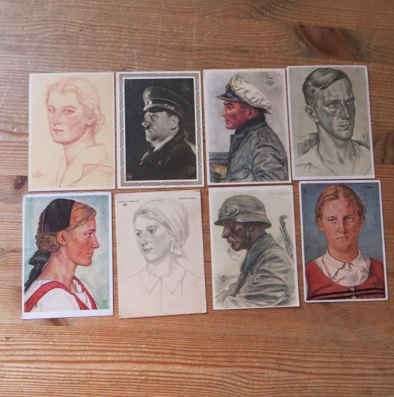 Drittes Reich Sammlung Briefe Ganzsachen und Ansichtskarten ca. 100 Stück!