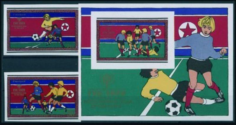 Korea-Nord 1979 Jahr des Kindes Fussball-Szenen ungezähnt geschnitten Mi. nicht gelistet