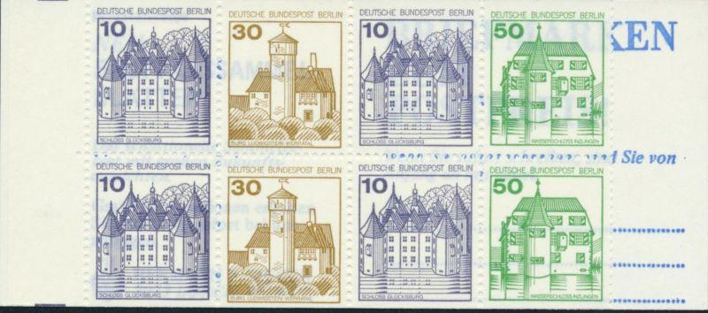 Berlin Markenheftchen MH 11 ed Burgen und Schlösser 1980 postfrisch geprüft