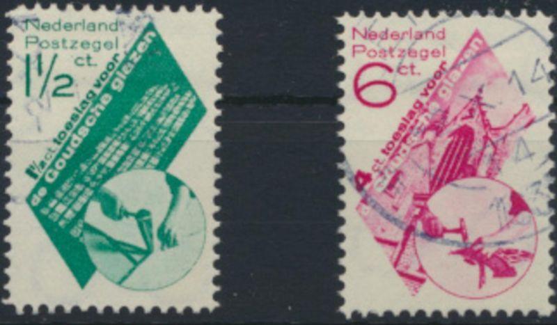 Niederlande 243-244 gestempelt - St. Janskerk in Gouda