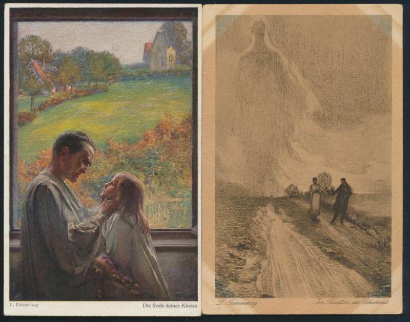 Ansichtskarte Künstlerkarte Fahrenkrog Seele des Kindes Verlag Wiechmann München