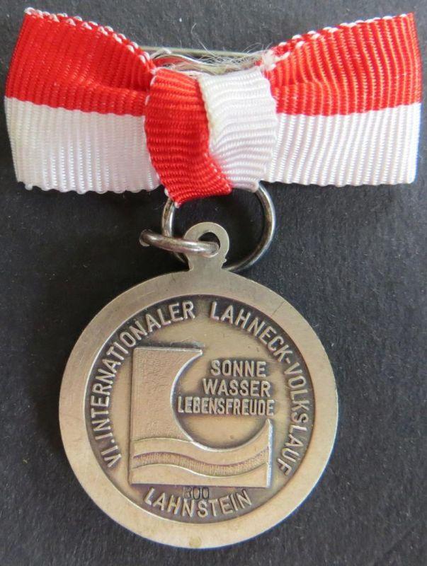 Medaille 6.Int. Lahneck-Volkslauf Lahnstein 1973 Kurthermen Rhein-Lahn