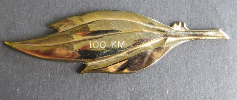 Brosche EVG goldfarben 11 x 3,2 cm 100 KM Sportauszeichnung