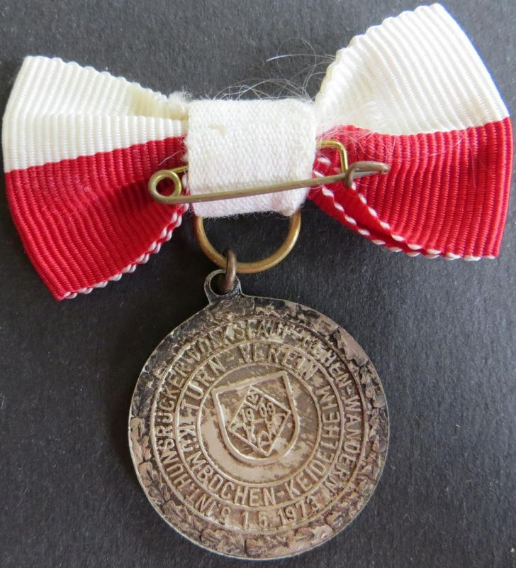 Medaille 5. Internationaler Hunsrücker Volkslauf 1973 Rheinböllen Patina