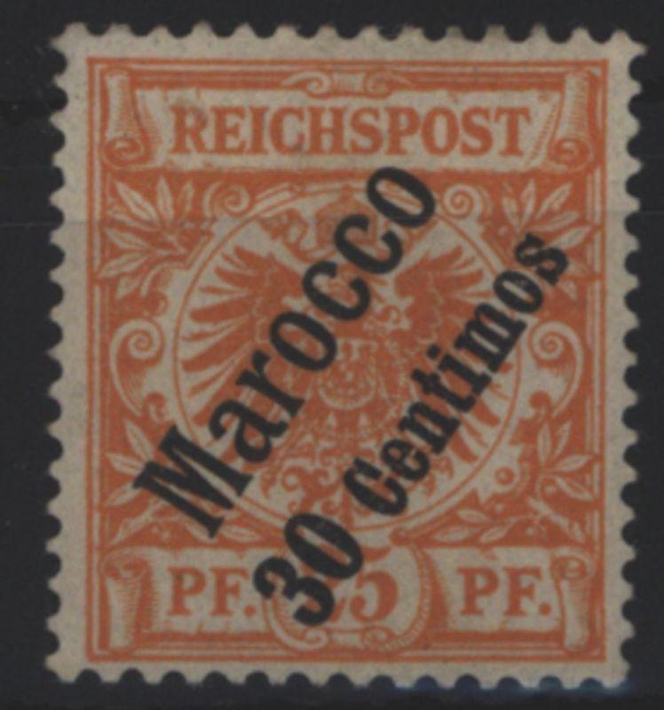 Deutsche Post Marokko 5 Aufdruckmarke 30C a. 25 Pf 1899 DAP Kolonien ungebraucht