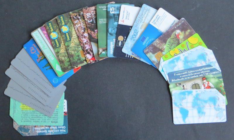 Lot 12 Telefonkarten Italien, Ägypten, Spanien, Zypern, Frankreich International
