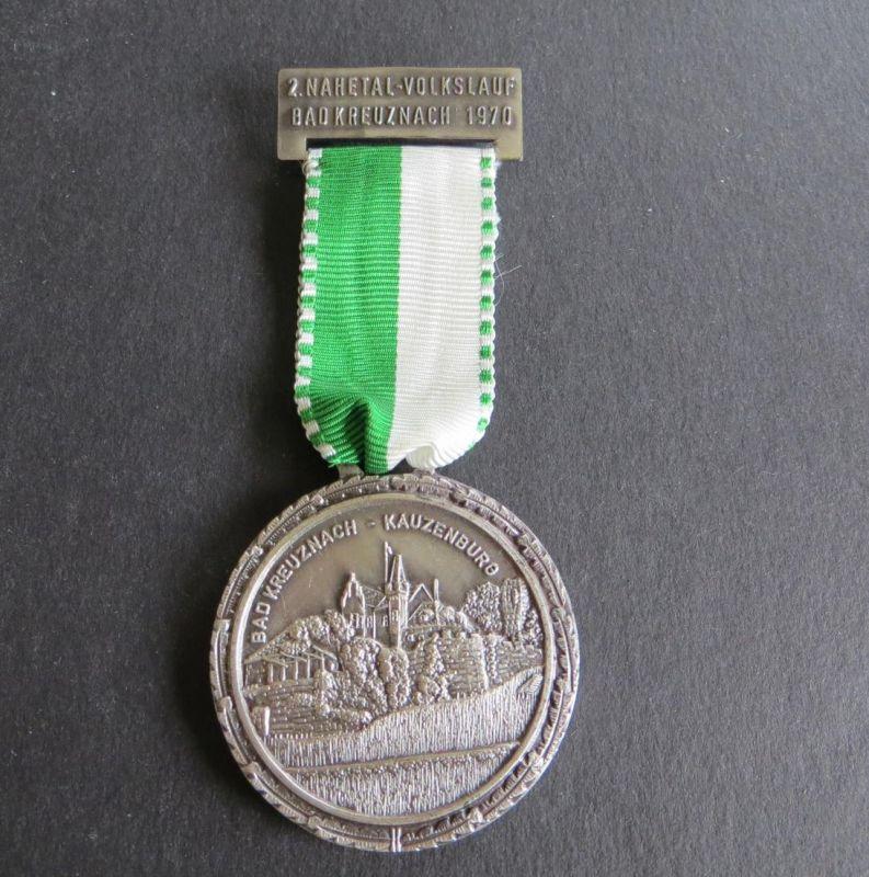 Medaille 2. Nahetal-Volkslauf Bad Kreuznach 1970 Kauzenburg DEM SIEGER