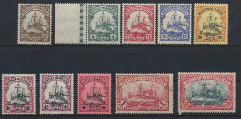 Kolonien Deutsch-Ostafrika DOA ex 30-39 B ungebraucht postfrisch Kat-Wert 160,00